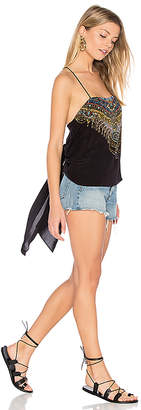Camilla Printed Long Sides Cami in Black $350 thestylecure.com