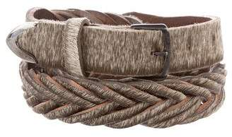 Golden Goose Ponyhair Braided Belt