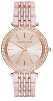 Michael Kors Darci Rose Goldtone Three-Hand Watch