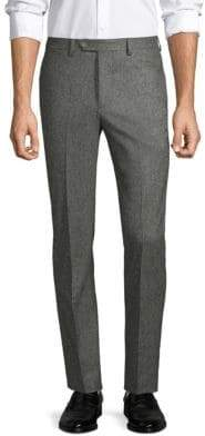 Officine Generale Paul Straight-Fit Birdseye Flannel Wool Pants