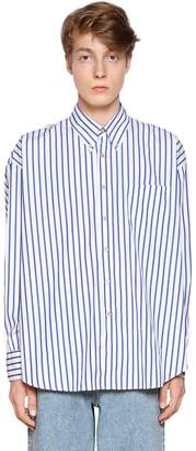 Our Legacy Striped Cotton Poplin Button Down Shirt