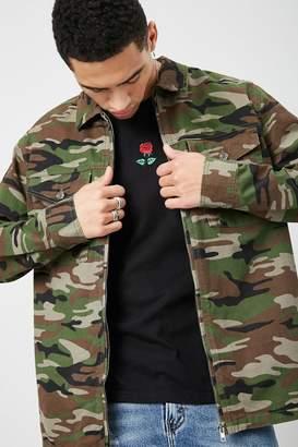 Forever 21 Camo Denim Jacket
