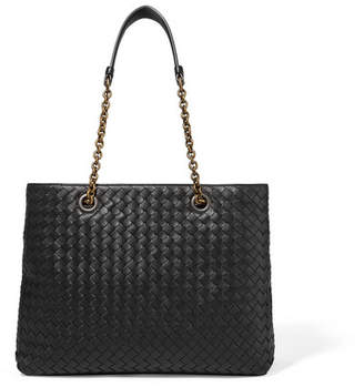 Bottega Veneta Small Intrecciato Leather Tote - Black