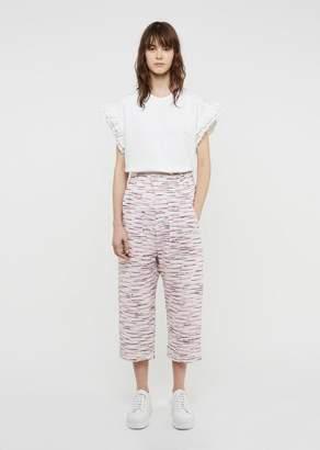 Julien David Light Tweed Cotton Pant White Pink
