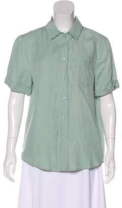 Equipment Silk and Linen-Blend Blouse