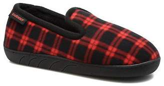 Isotoner Kids's Charentaise Ergonomique Polaire Slippers In Red - Size Uk 2.5 /