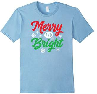 Merry And Bright Novelty T- Shirt
