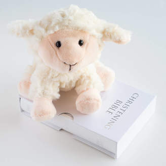 Oh So Cherished Little Lamb And Bible Christening Set