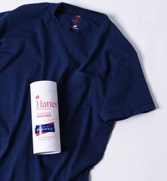 Ships (シップス) - シップス Hanes×SHIPS JET BLUE: 別注 Japan Fit PREMIUM ポケットTシャツ