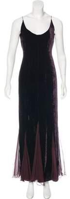 Max Mara Sleeveless Velvet Maxi Dress