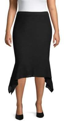 Rachel Roy Plus Asymmetric Hem Skirt