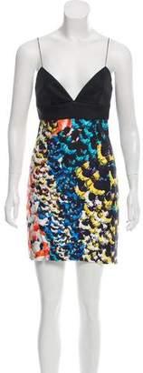 Nicholas Silk Printed Mini Dress