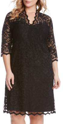 Karen Kane Scalloped Stretch Lace Dress