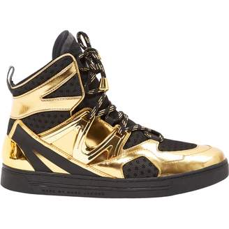 Marc Jacobs Gold Patent leather Trainers