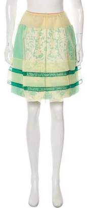 Louis Vuitton Silk Flared Skirt