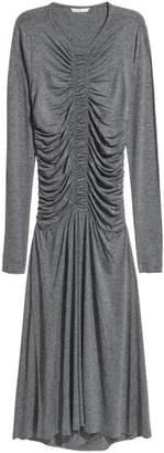H&M Draped Jersey Dress - Gray