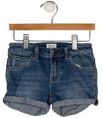 Armani Junior Girls' Five Pockets Denim Shorts