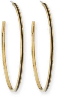 Tai Enamel Hoop Earrings