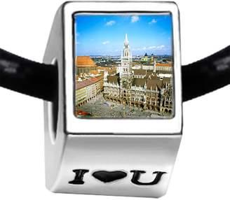 Munich GiftJewelryShop Germany Marienplatz The Rathaus I Love You Charm Bracelets