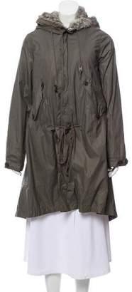 Nicholas K Fur-Trimmed Knee-Length Coat