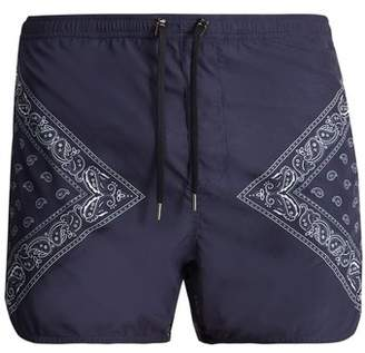 Neil Barrett Bandana-print swim shorts