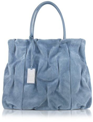 Coccinelle Goodie Bag - Suede and Leather Double Handle Bag