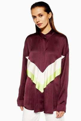 Topshop Chevron Colour Block Shirt by Boutique