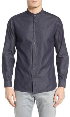 Men's Twentymetrictons Slim Fit Band Collar Sport Shirt $98.50 thestylecure.com