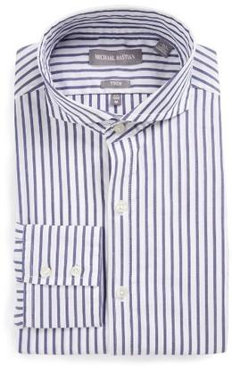 Men's Michael Bastian Trim Fit Stripe Dress Shirt $98.50 thestylecure.com