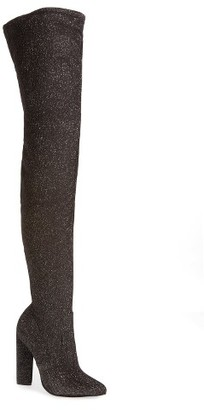 Women's Steve Madden Crystals Over The Knee Boot $129.95 thestylecure.com