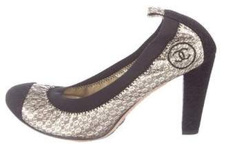 Chanel Metallic Cap-Toe Pumps