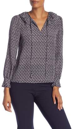 Rebecca Taylor Static Long Sleeve Silk Top