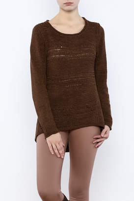 Curio High Low Ribbon Knit Sweater $82 thestylecure.com