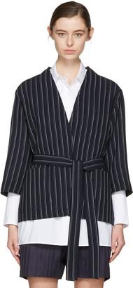 Acne Studios Navy Jada Double Pin Suit Jacket $650 thestylecure.com