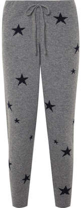 Chinti and Parker Star Cashmere Track Pants - Gray