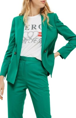 Women's Topshop Double Breasted Suit Jacket $125 thestylecure.com