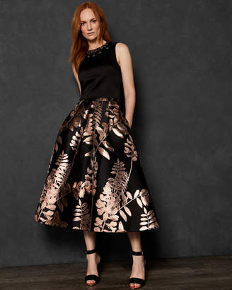 00a769e3f6b26 Ted Baker XANTHEA Splendour pleated midi skirt