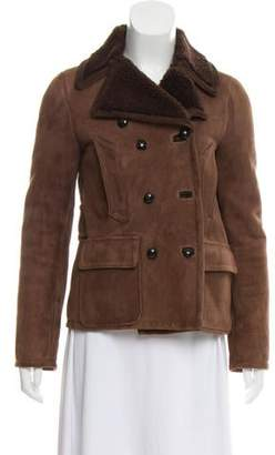 Golden Goose Leather Shearling Coat