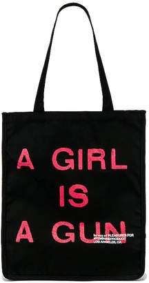 Pleasures A Girl Is A Gun Tote Bag