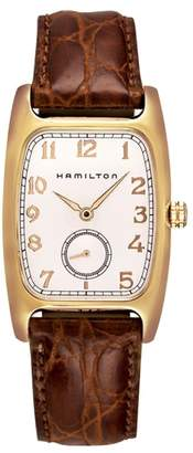 Hamilton American Classic Boulton Leather Strap Watch, 27mm x 31mm