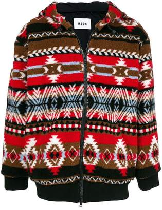 MSGM folk pattern jacket