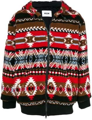 MSGM folk pattern jacket