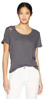 Monrow Women's Relaxed Crew with Tonal Stars