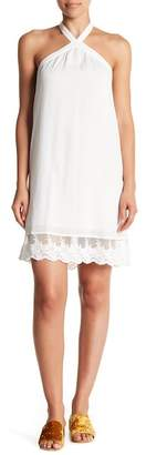 Love Stitch Triangle Halter Neck Dress