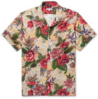 Engineered Garments Camp-Collar Printed Poplin Shirt