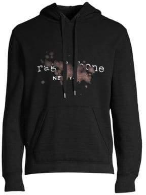 Rag & Bone Rag& Bone Rag& Bone Men's Bleach Cotton Hoodie - Black - Size Medium