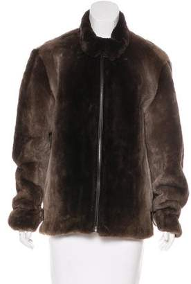 Marc Jacobs Leather-Trimmed Mink Fur Coat