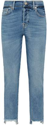 7 For All Mankind Asher Distressed Hem Jeans