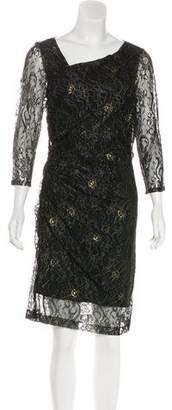Andrew Marc Metallic Lace Dress w/ Tags