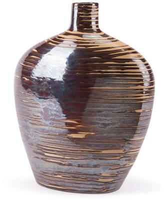ZUO Oxi Tall Vase Gunmetal & Orange